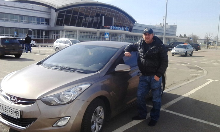 Taxi to Kiev airport Borispol, the driver understands English, cheap price.